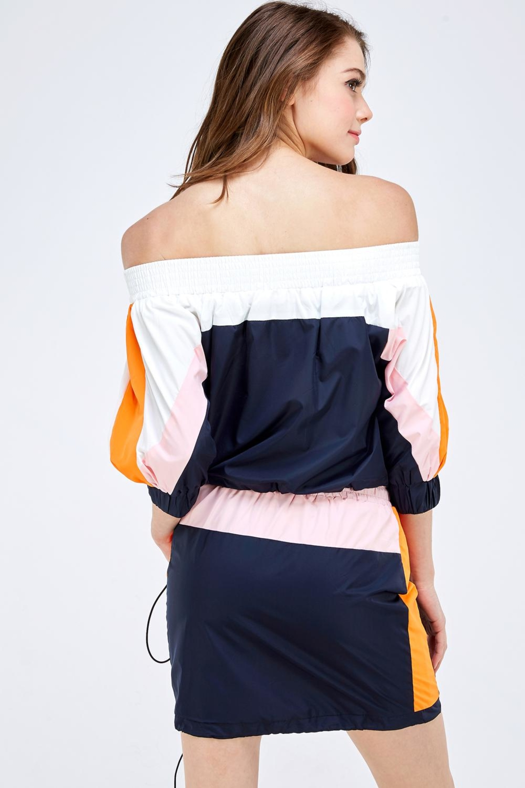 Hot & Delicious Colorblock Skirt Set - Back Cropped Image