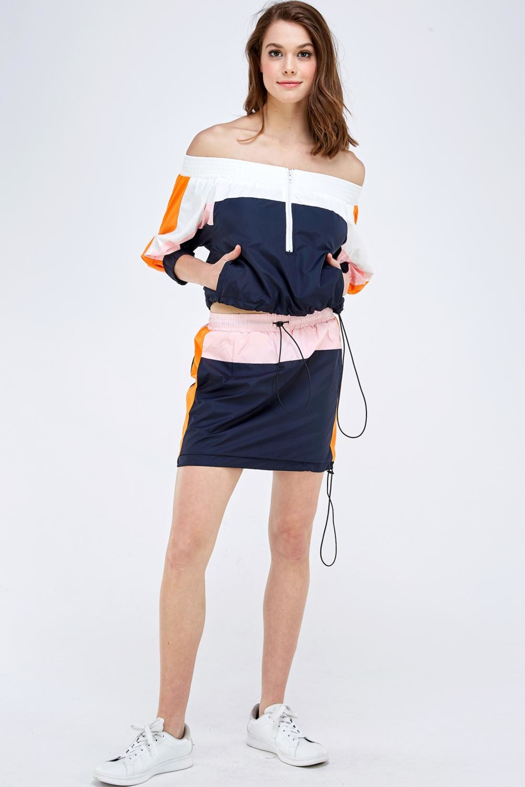 Hot & Delicious Colorblock Skirt Set - Front Full Image