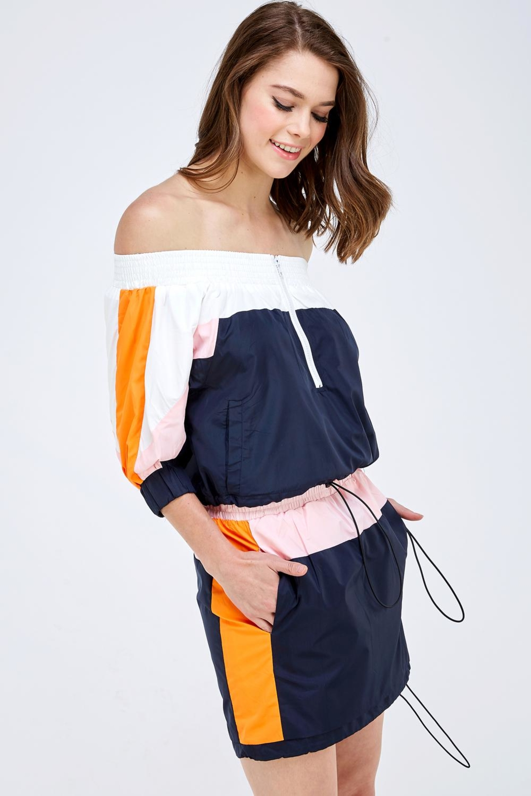 Hot & Delicious Colorblock Skirt Set - Side Cropped Image