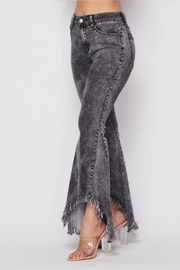 Hot & Delicious Distressed Bell-Bottom Jeans - Front full body