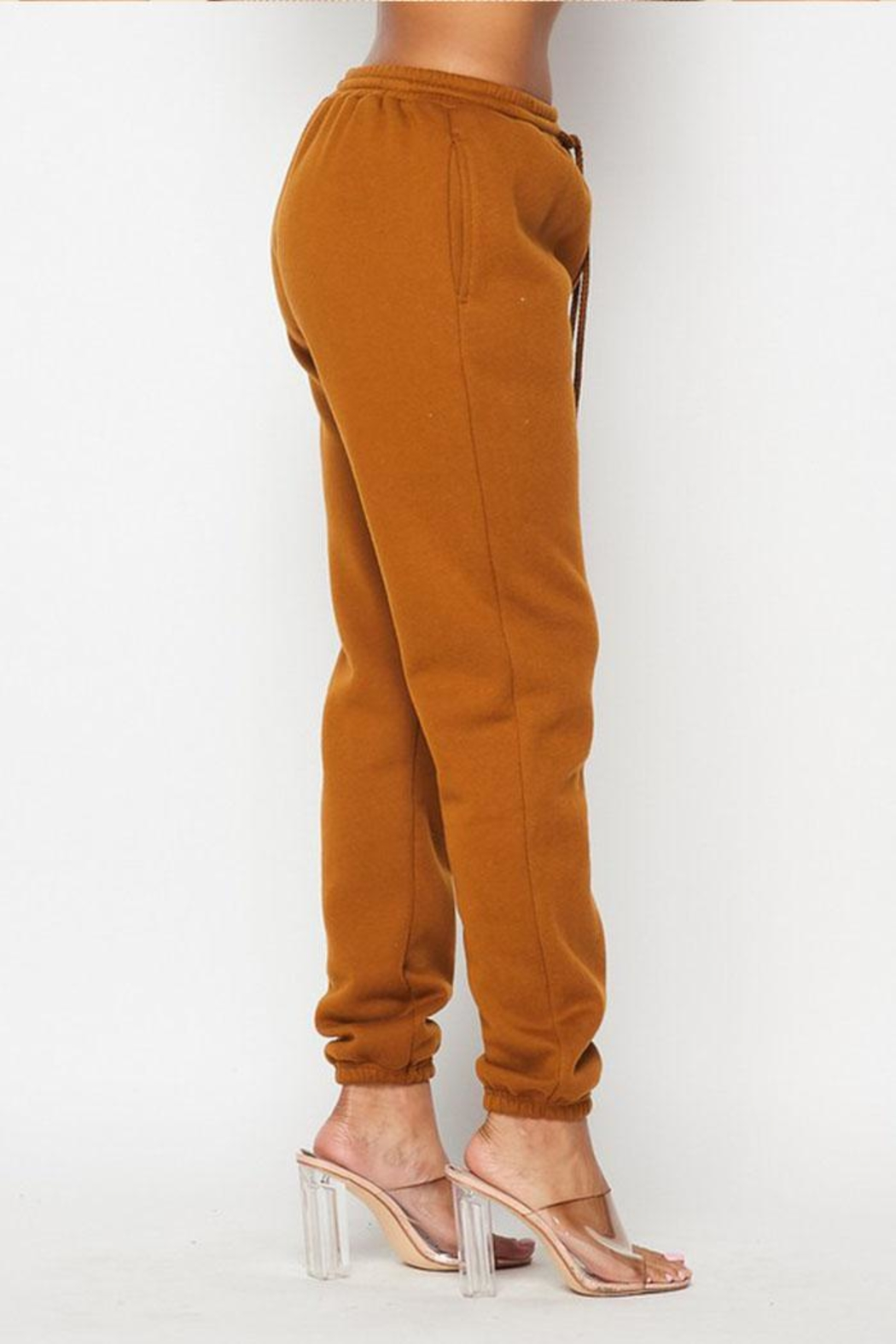 Hot & Delicious Drawstring Jogger Sweatpants - Side Cropped Image