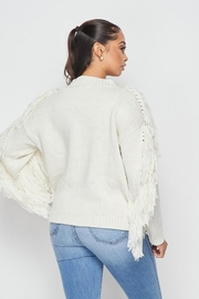 Hot & Delicious Fringe Knit Sweater - Back cropped