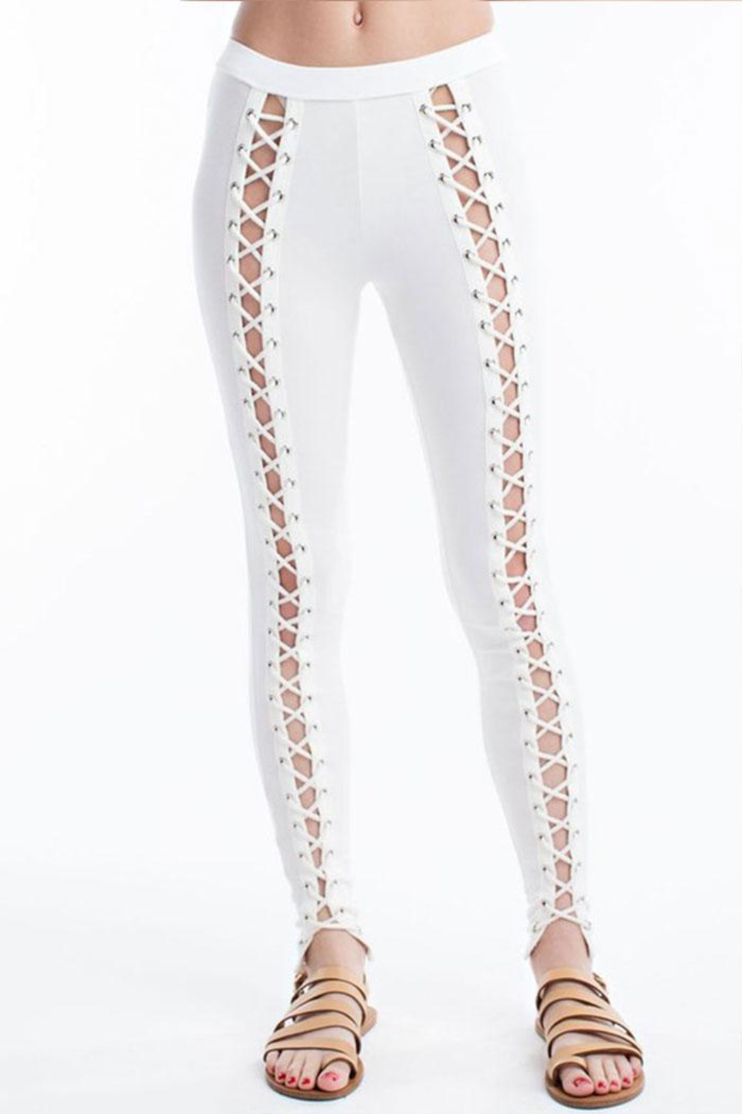 Hot & Delicious Front Lace-Up Pants - Main Image