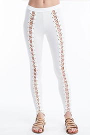 Hot & Delicious Front Lace-Up Pants - Front cropped