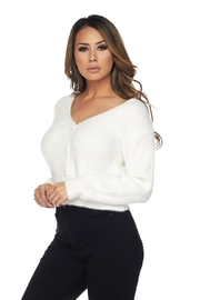 Hot & Delicious Fuzzy Cropped Sweater - Front full body