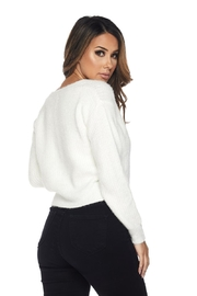 Hot & Delicious Fuzzy Cropped Sweater - Side cropped