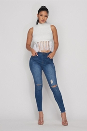Hot & Delicious Fuzzy Fringe Top - Product Mini Image