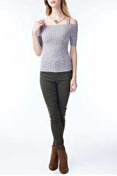 Shoptiques Product: Gray Ribbed Top