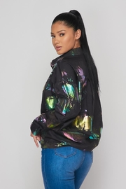 Hot & Delicious Hologram Button Down - Front full body