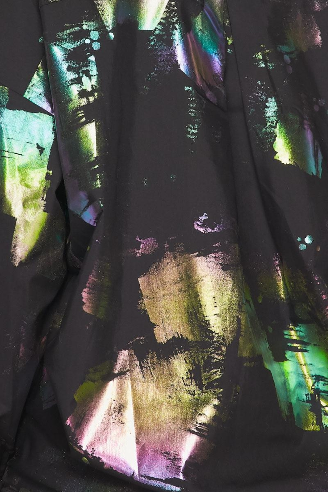 Hot & Delicious Hologram Button Down - Back Cropped Image