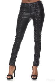 Hot & Delicious Lace Up Pants - Product Mini Image