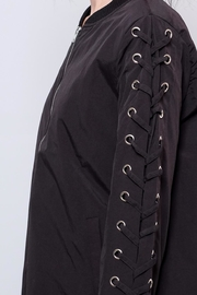 Hot & Delicious Lace Up Sleeve Bomber - Other