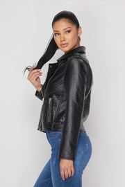 Hot & Delicious Leather Moto Jacket - Front full body