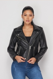 Hot & Delicious Leather Moto Jacket - Product Mini Image