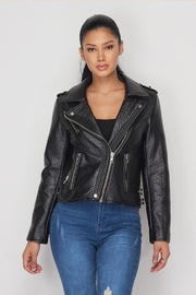 Hot & Delicious Leather Moto Jacket - Other