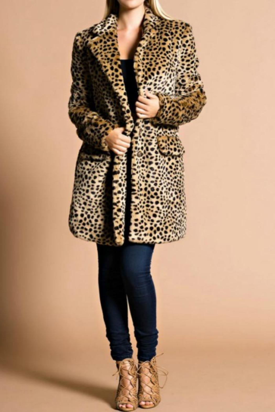 Hot & Delicious Leopard Coat - Main Image