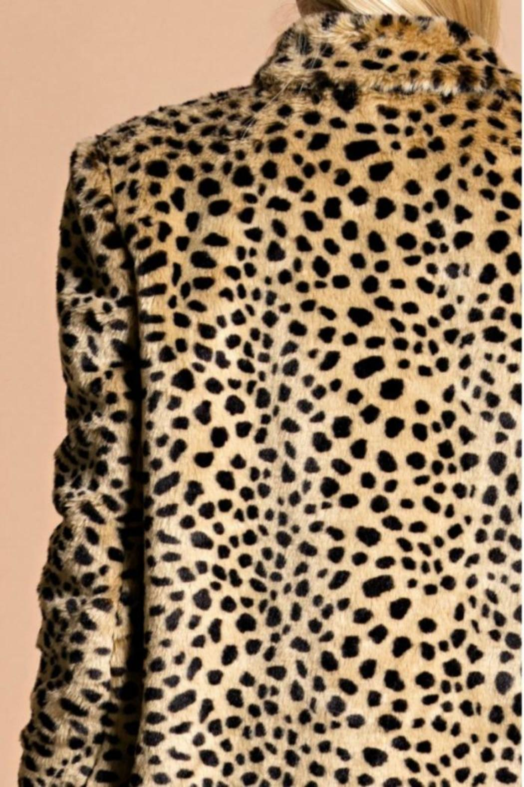 Hot & Delicious Leopard Coat - Side Cropped Image