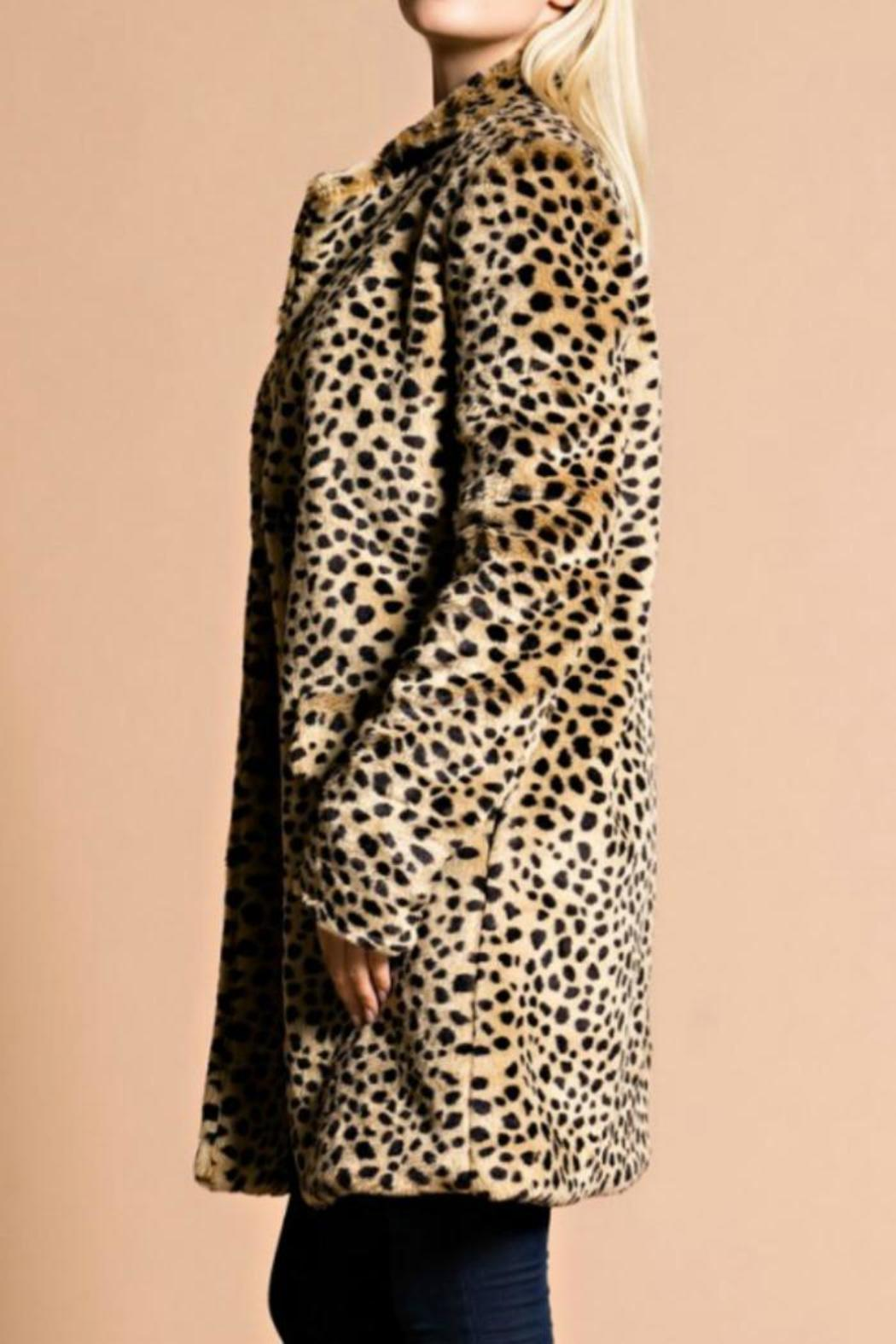 Hot & Delicious Leopard Coat - Front Full Image