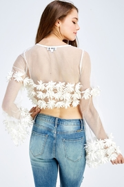 Hot & Delicious Mesh Floral Top - Back cropped