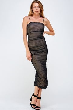 Shoptiques Product: Mesh Shirring Dress
