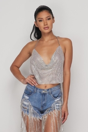 Hot & Delicious Metal Halter Top - Side cropped