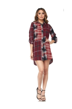 Hot & Delicious Multi Flannel Dress - Product List Image