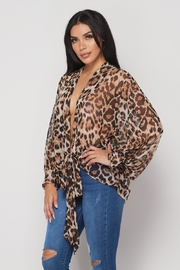 Hot & Delicious Open Tie Blouse - Front full body