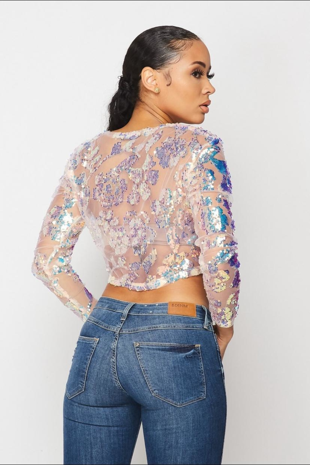 Hot & Delicious Pink Sequin Top - Front Full Image
