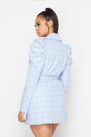 Hot & Delicious Plaid Blazer Dress - Back cropped