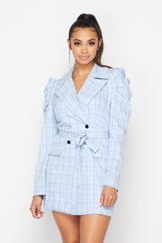 Hot & Delicious Plaid Buttundown Dress - Front cropped