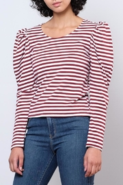 Hot & Delicious Puff Shoulder Top - Front cropped