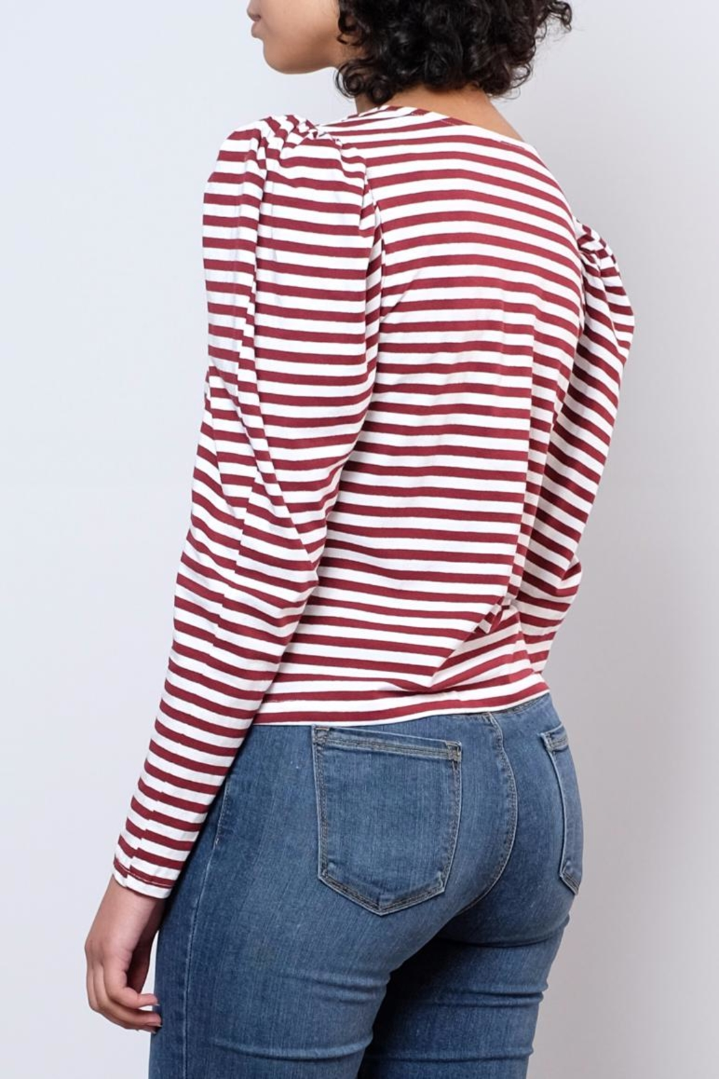 Hot & Delicious Puff Shoulder Top - Side Cropped Image
