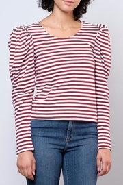 Hot & Delicious Puff Shoulder Top - Front full body