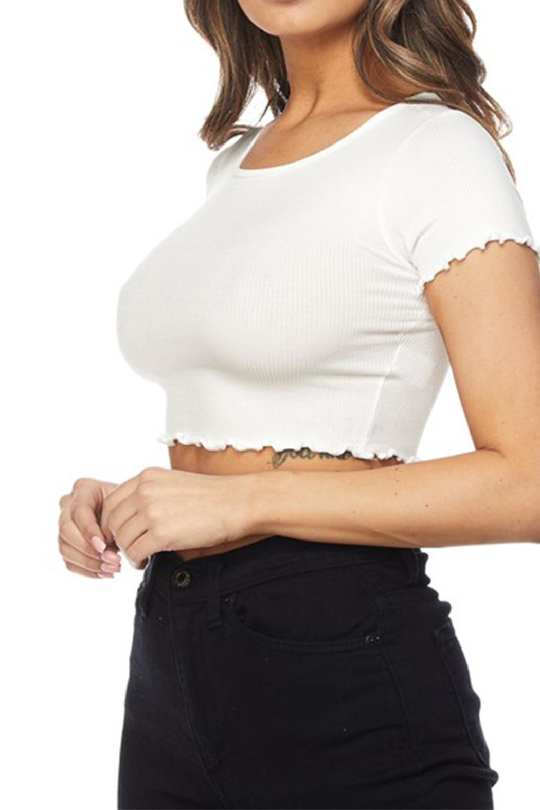 Hot & Delicious Ribbed Crop Top - Front Full Image
