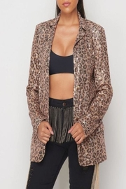 Hot & Delicious Sequin Cheetah Blazer - Product Mini Image