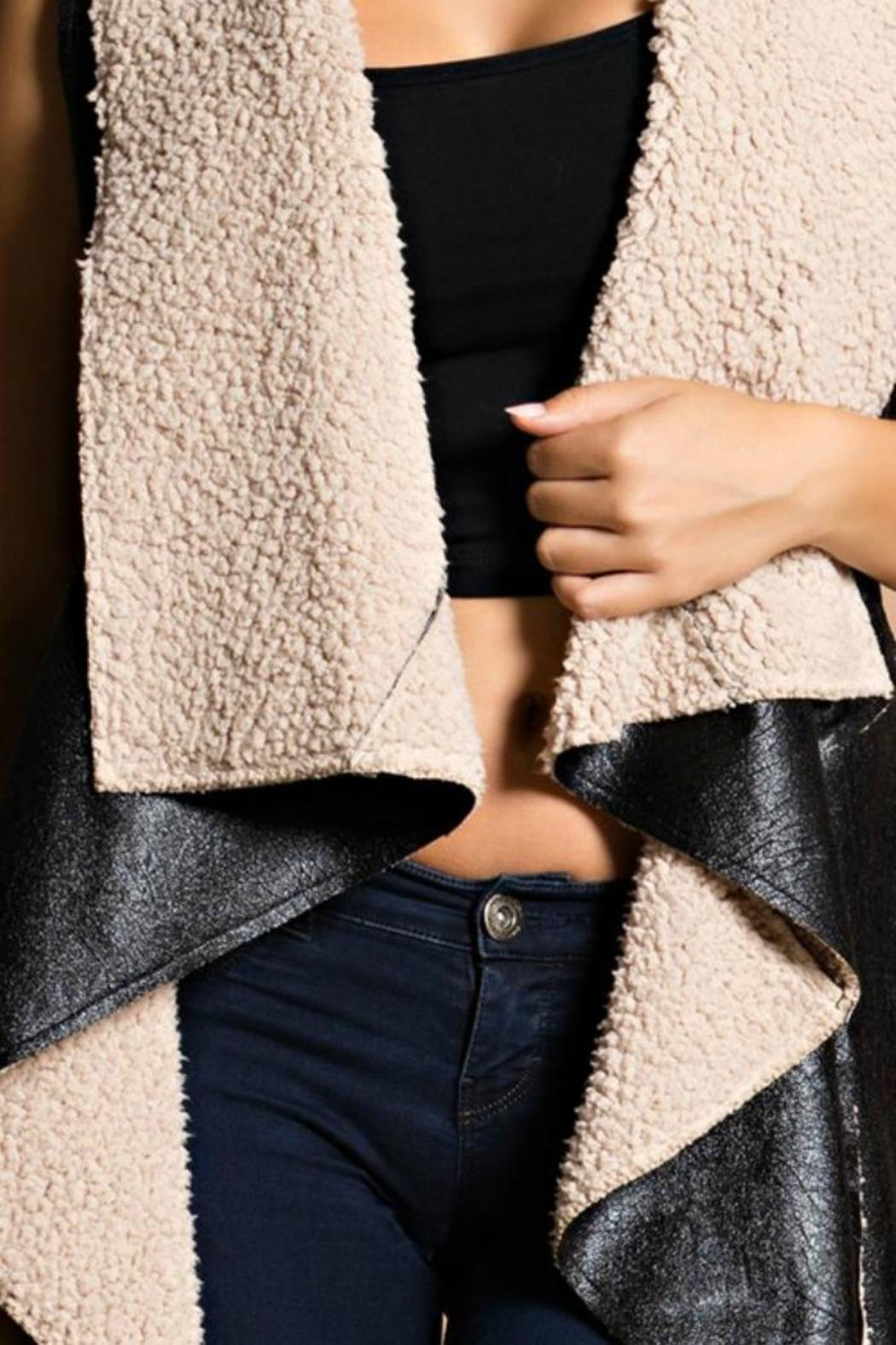Hot & Delicious Shearling Vest - Front Full Image