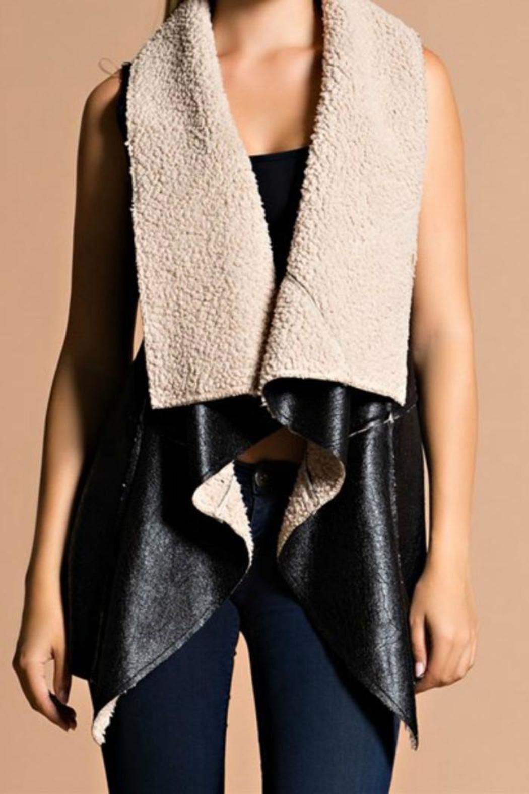 Hot & Delicious Shearling Vest - Main Image