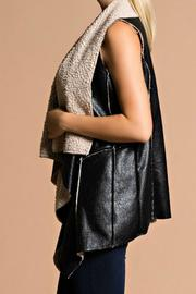 Hot & Delicious Shearling Vest - Back cropped