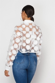 Hot & Delicious Sheer Mesh Blouse - Side cropped