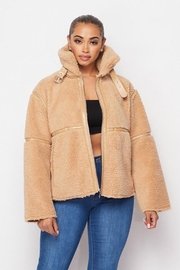 Hot & Delicious Sherpa Short Jacket - Front full body