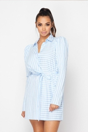 Hot & Delicious Stripe Shirt Dress - Product Mini Image