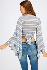 Hot & Delicious Tie Back Top - Back cropped