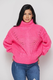 Hot & Delicious Turtleneck Knit Sweater - Product Mini Image