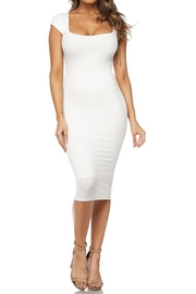 Hot & Delicious White Ribbed Dress - Product Mini Image