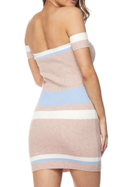 hot and delicious Colored Stripe Dress - Side cropped