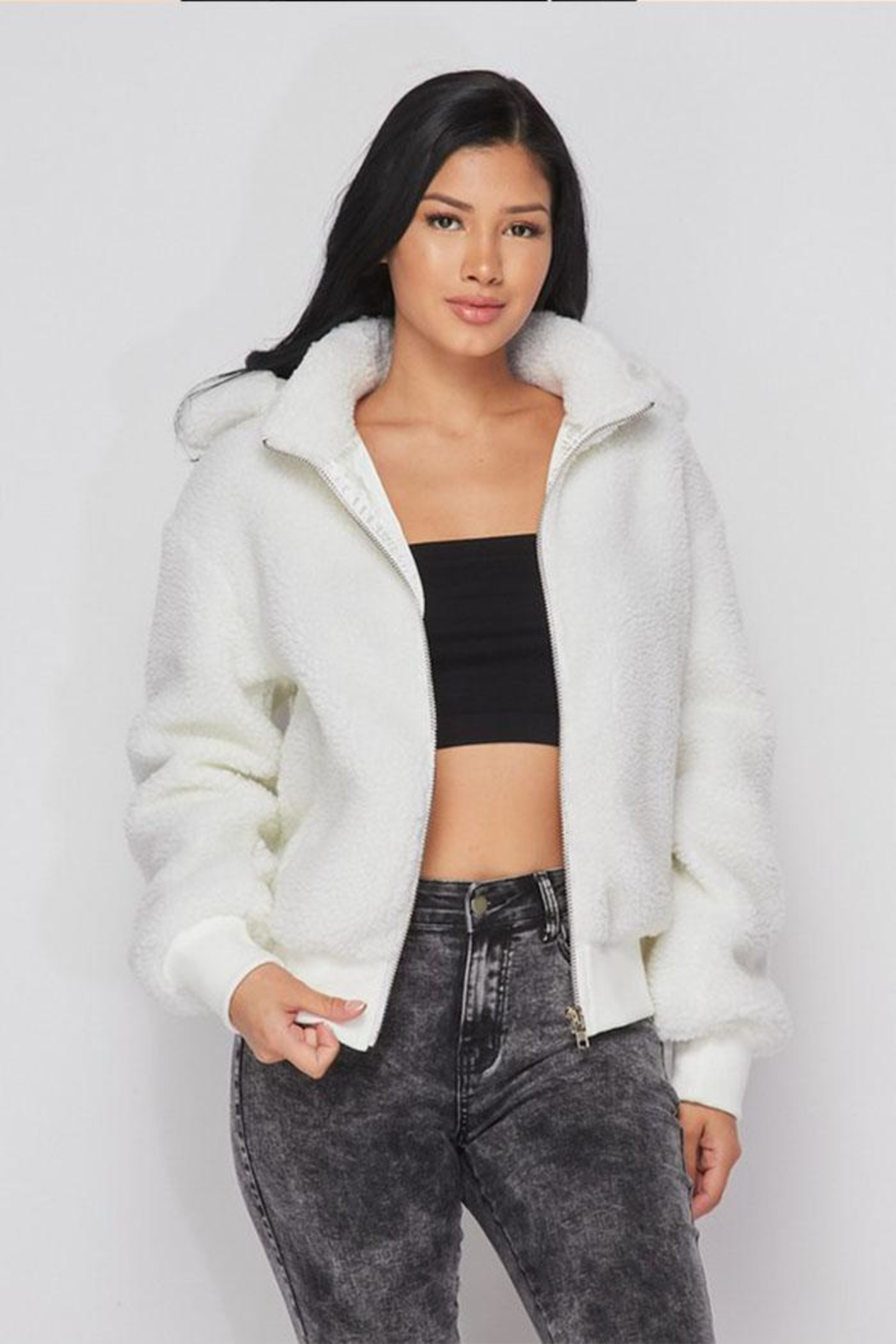 hot and delicious Hooded Fleece Jacket - Main Image