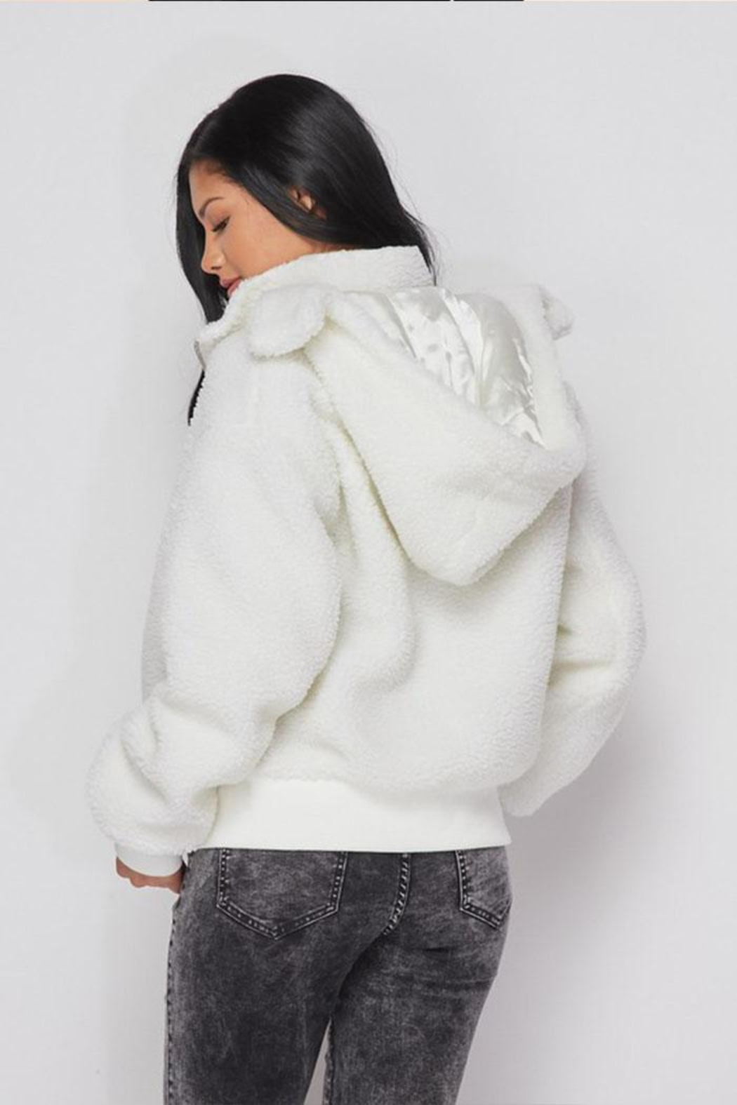 hot and delicious Hooded Fleece Jacket - Front Full Image