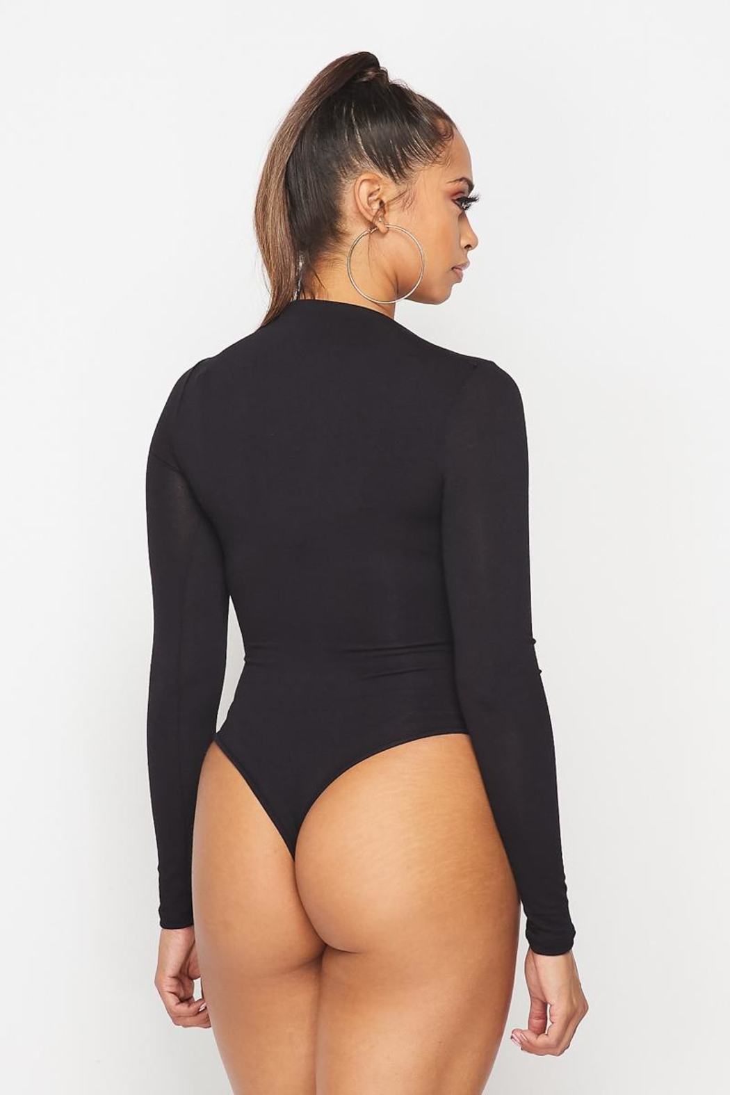 hot and delicious Mock Neck Bodysuit - Side Cropped Image