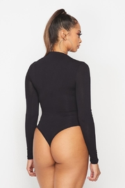 hot and delicious Mock Neck Bodysuit - Side cropped