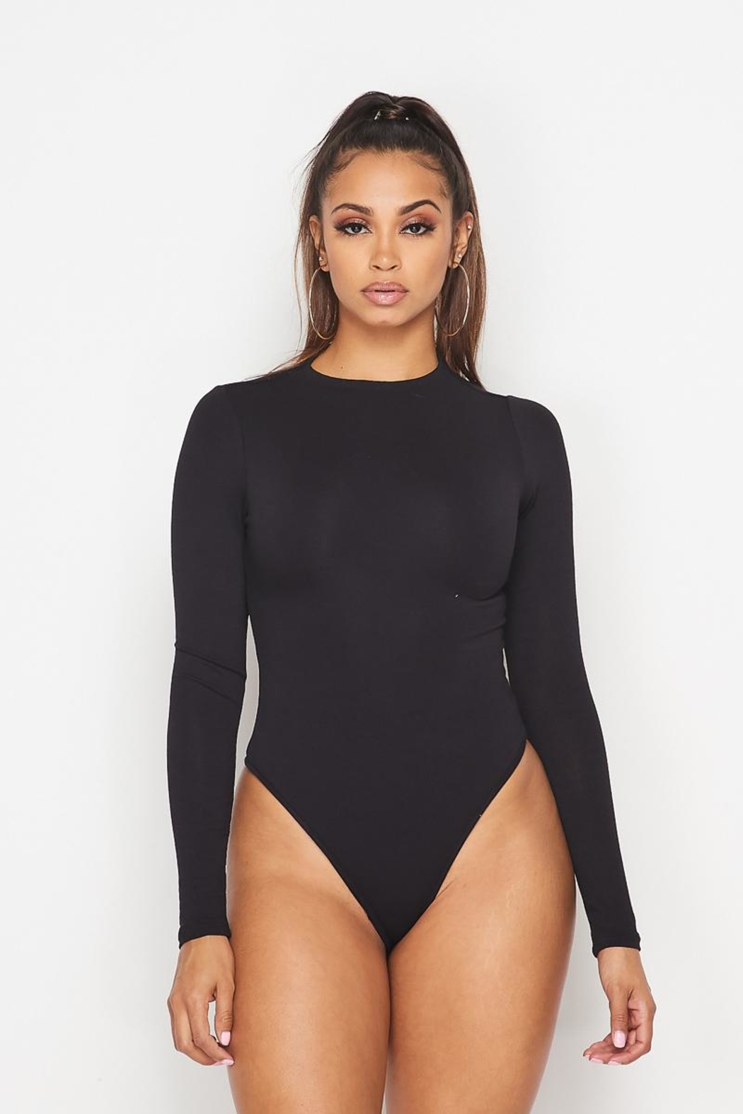hot and delicious Mock Neck Bodysuit - Main Image